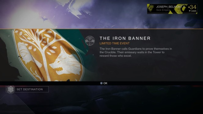 Destiny's Iron Banner - July 28, 2015