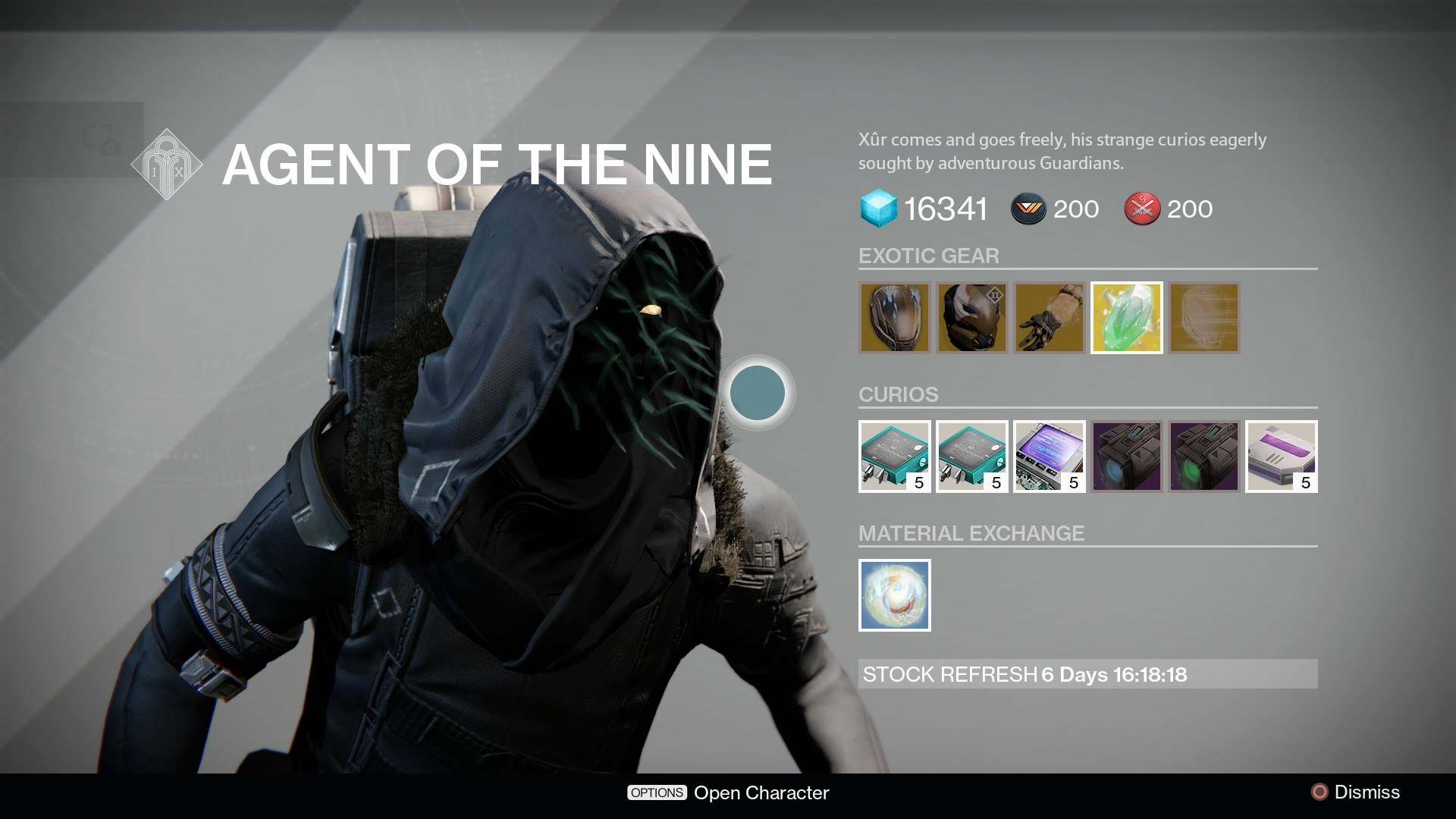 Destiny - Xur Inventory (Week 45)