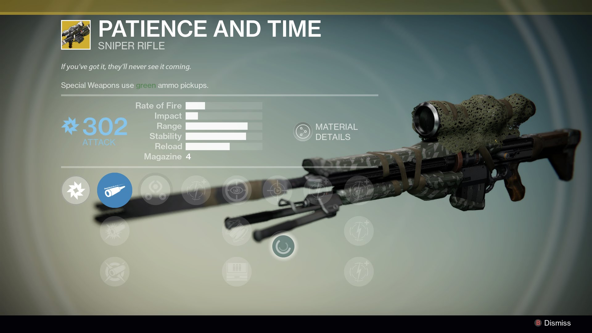 Destiny - Patience and Time Sniper Rifle