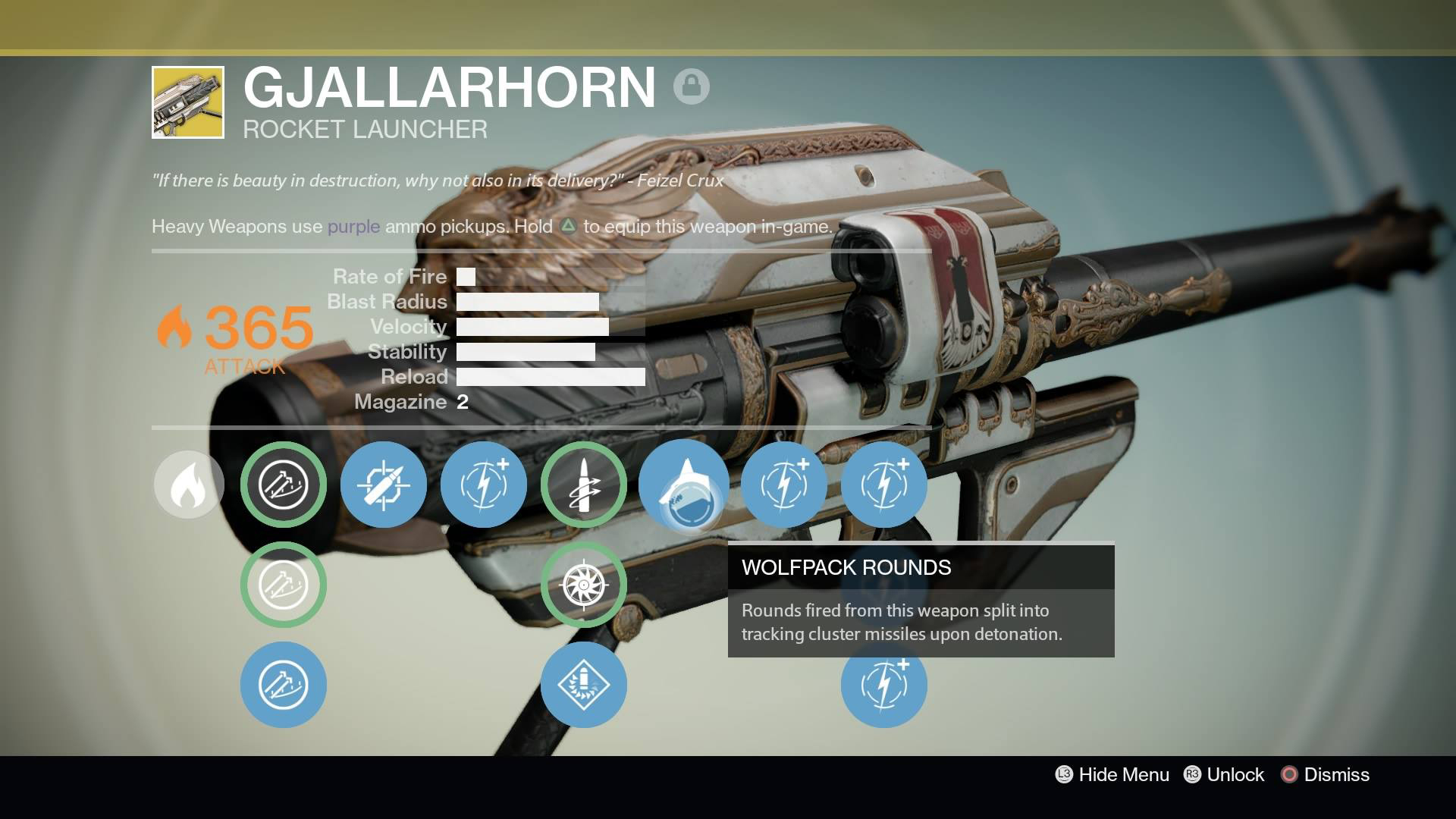 Destiny - Gjallarhorn Rocket Launcher