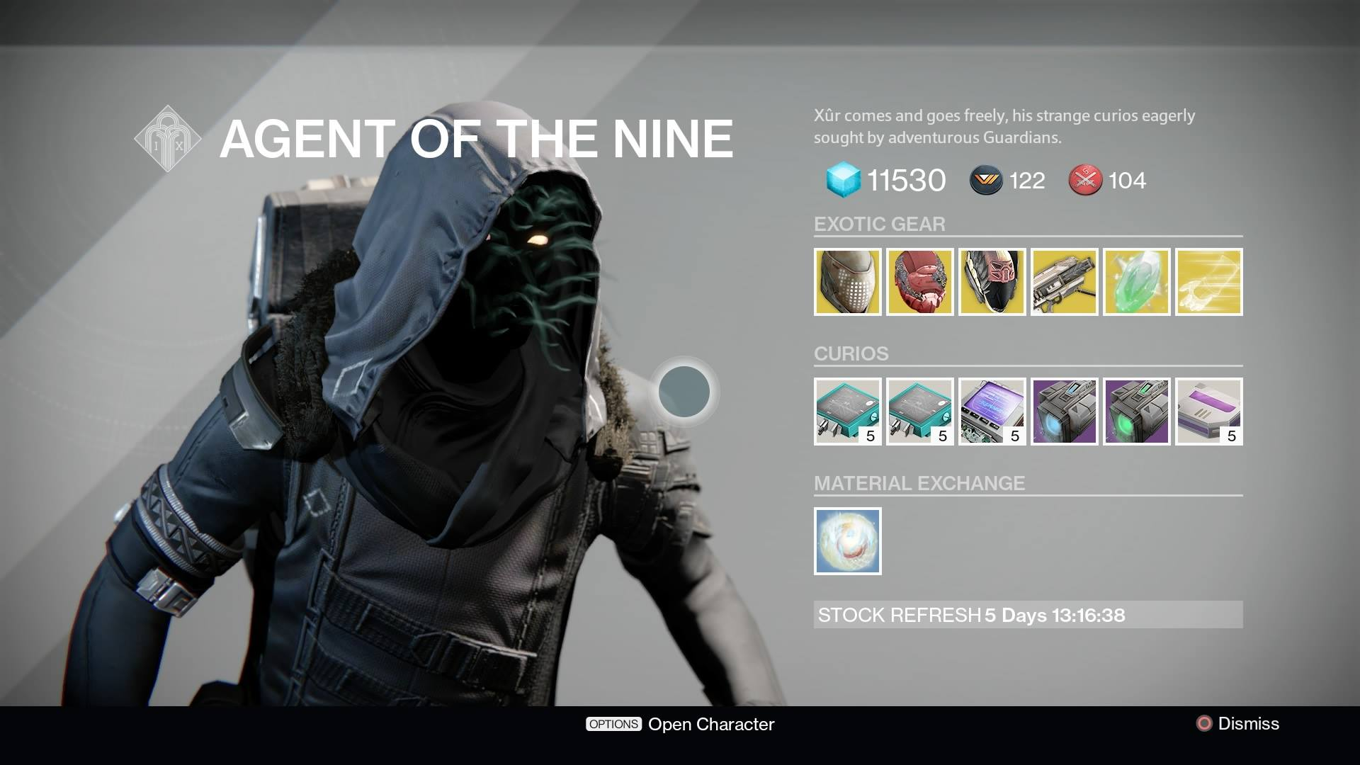 Destiny - Xur Inventory (Week 46)