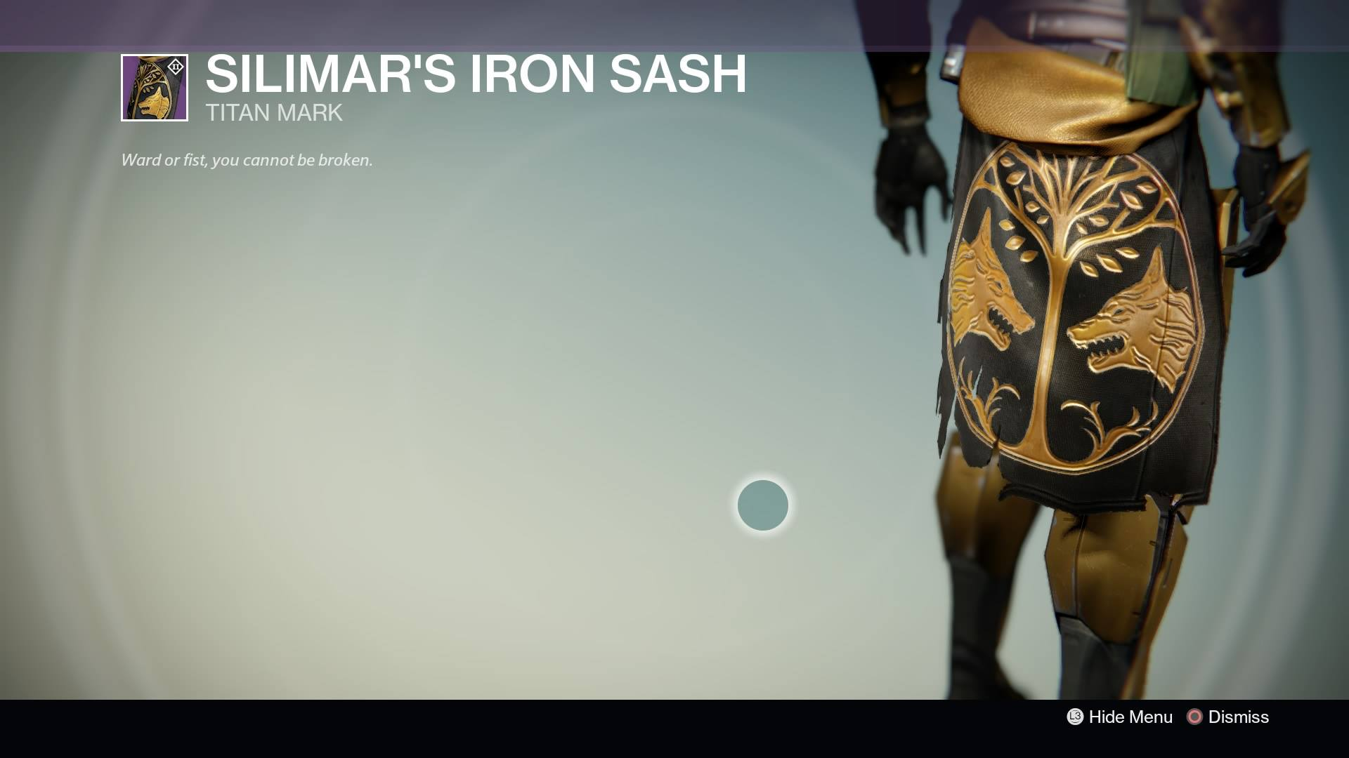 Destiny - Titan Silimar's Iron Sash