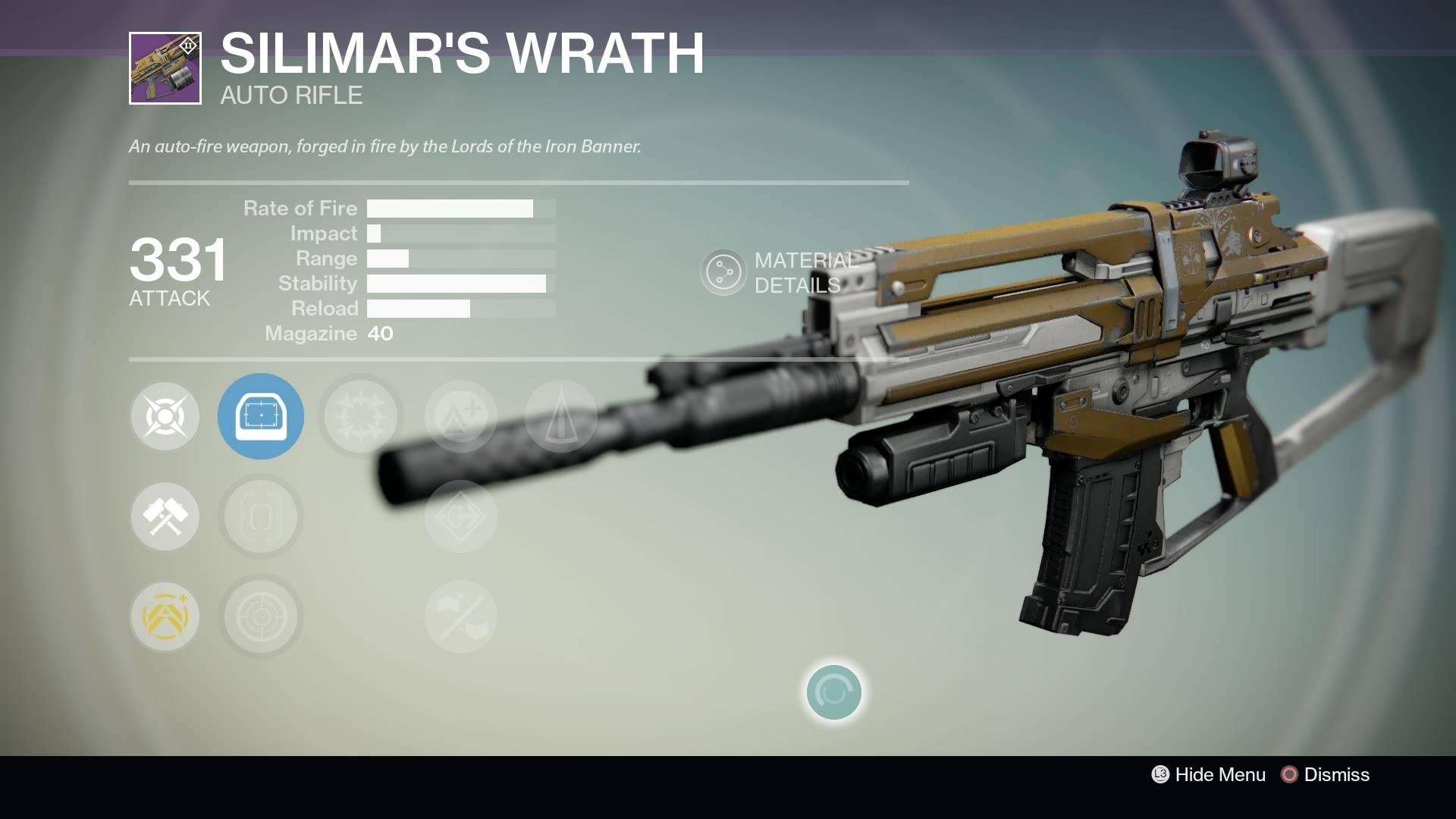Destiny - Silimar's Wrath Auto Rifle