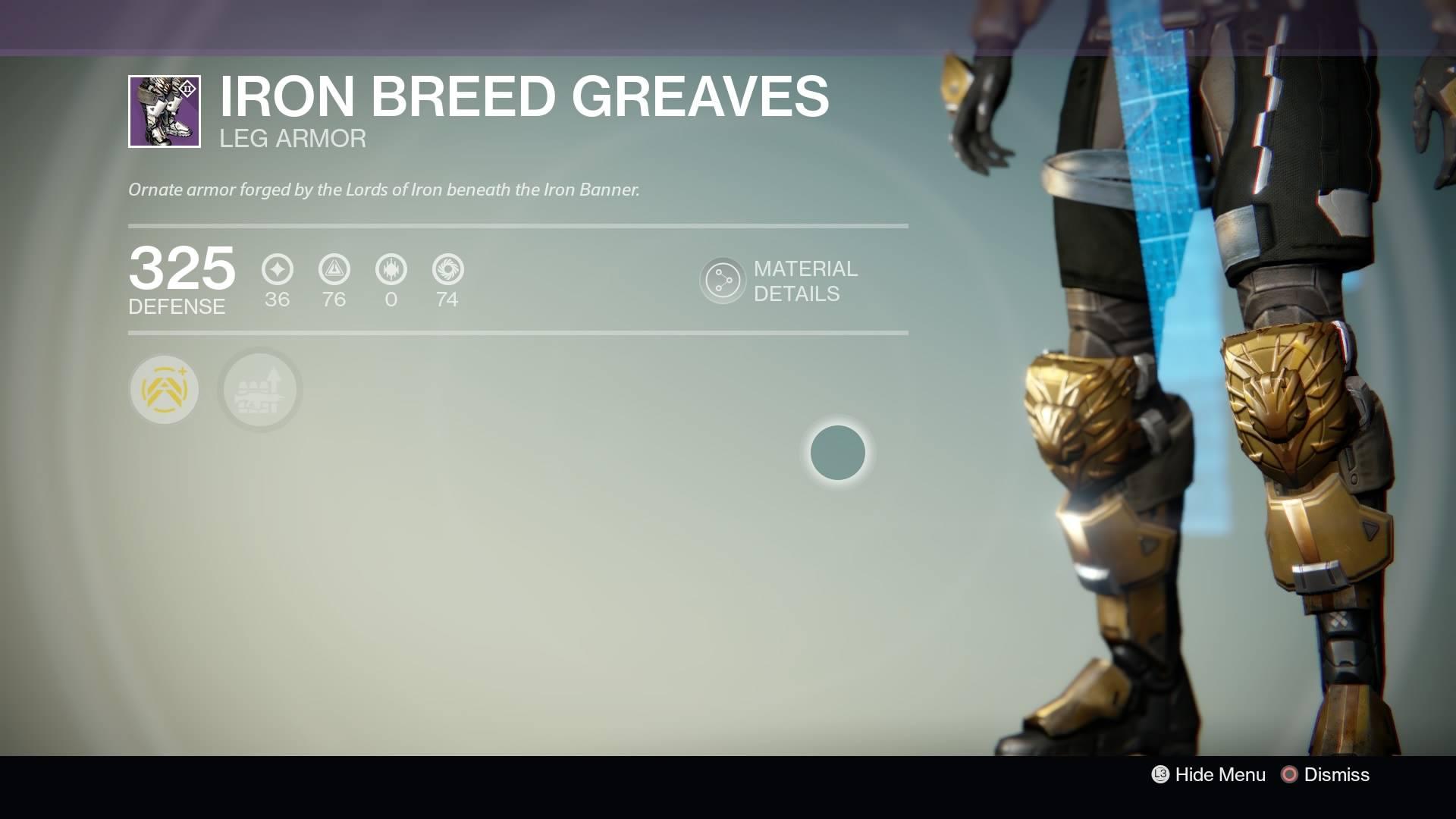 Destiny - Titan Iron Breed Greaves