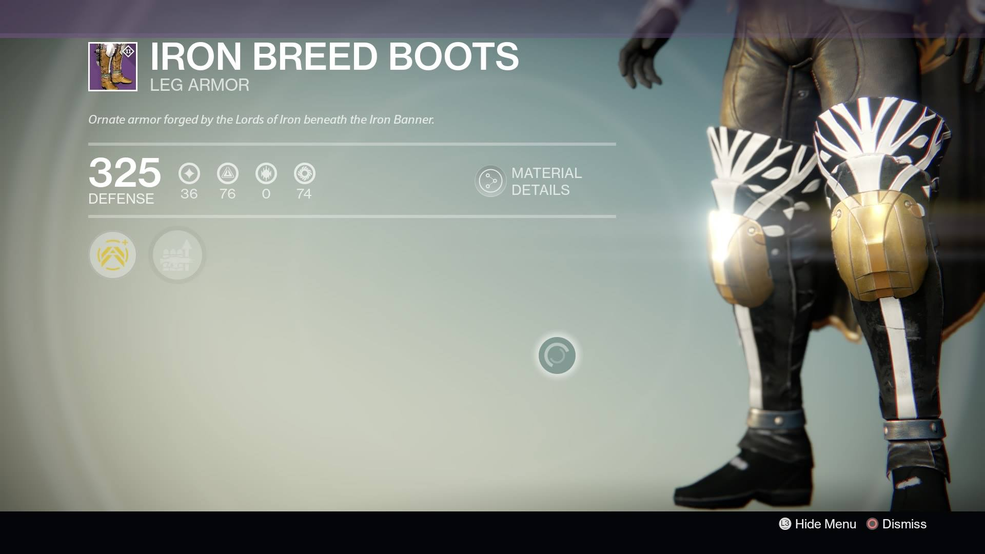 Destiny - Hunter Iron Breed Boots