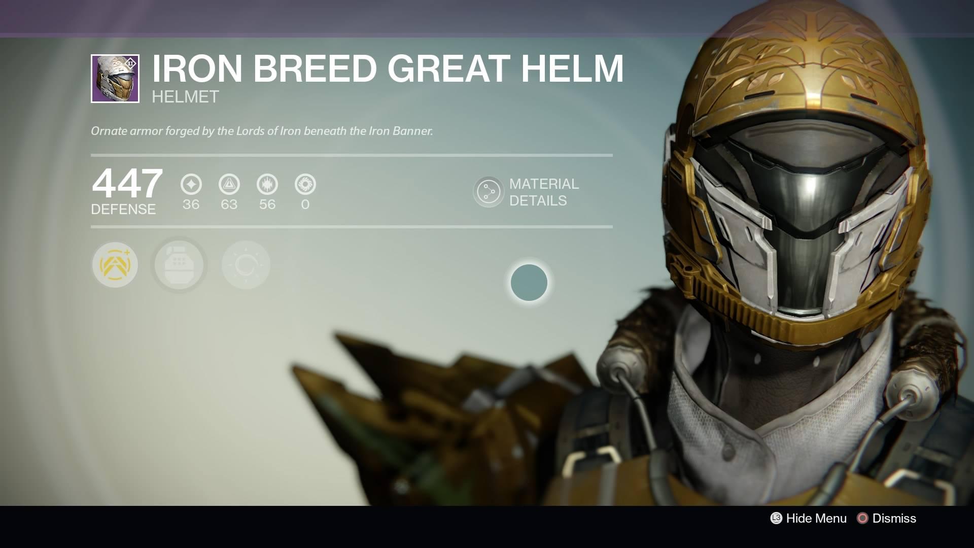 Destiny - Titan Iron Breed Great Helm