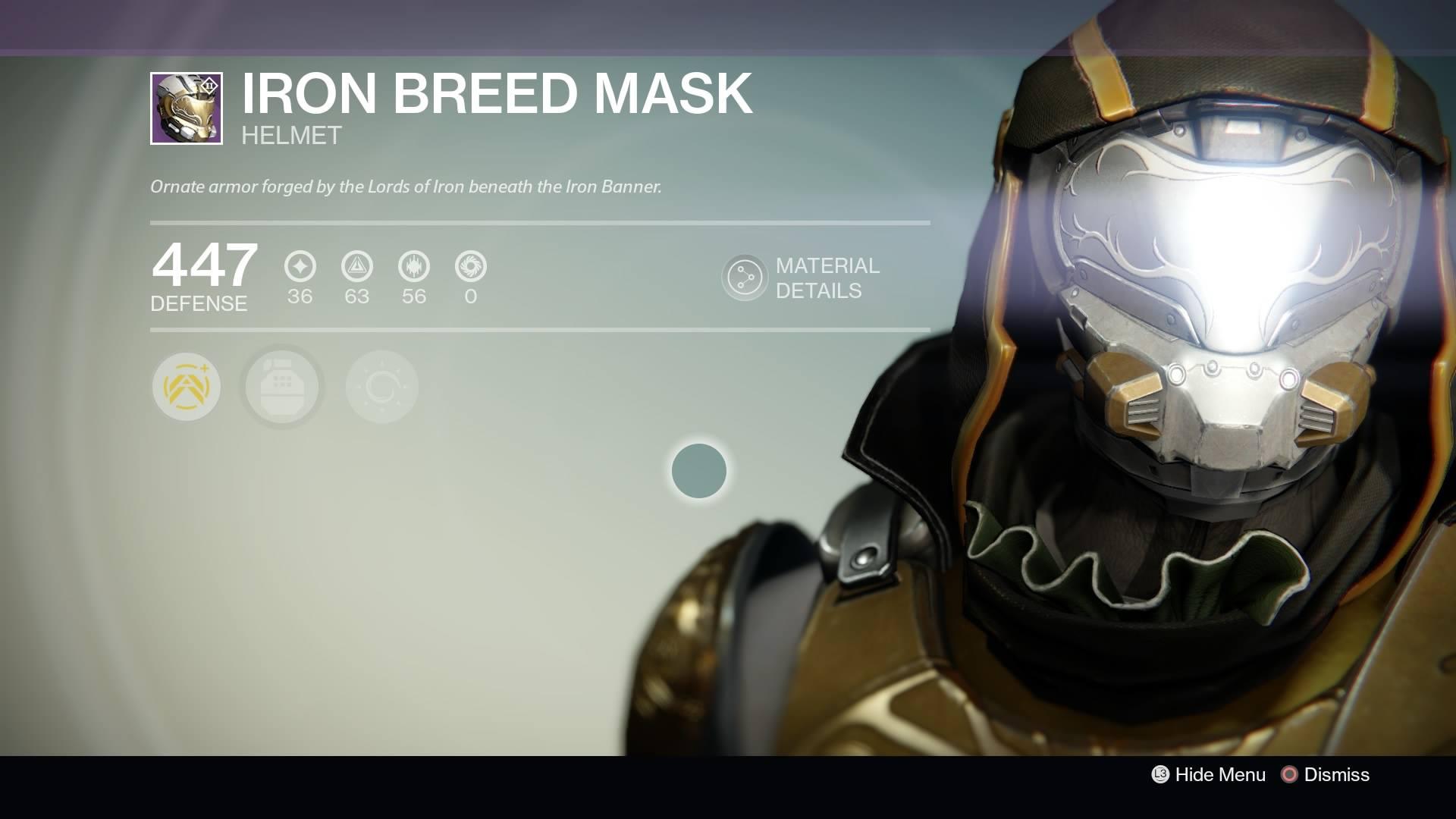Destiny - Hunter Iron Breed Mask