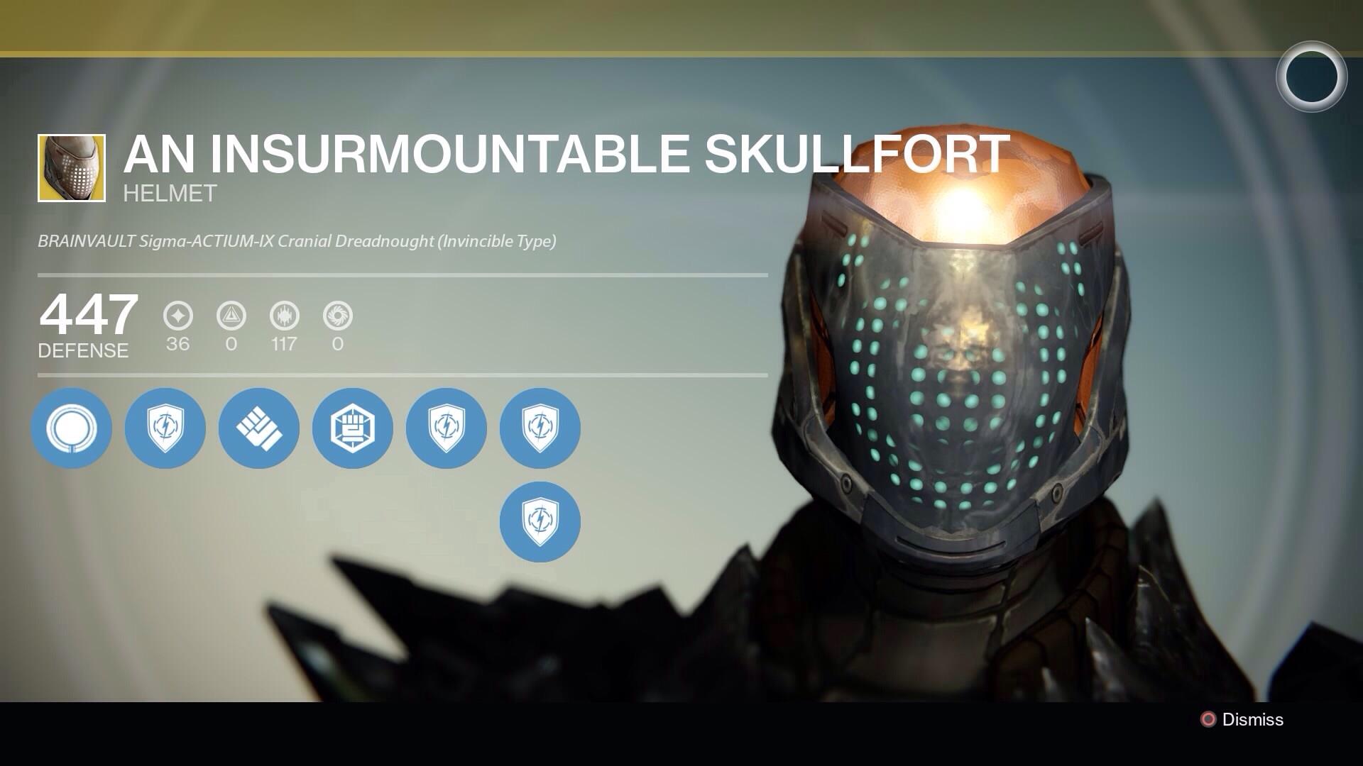 Destiny - Titan An Insurmountable Skullfort